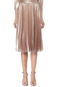 Beymen Collection Kadın Rose Gold Pilili Midi Etek Altın Rengi 48(108010459)