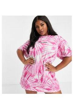 New Girl Order Curve - Vestito camicia con logo-Rosa(122835224)