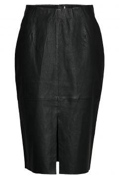Stretch Leather - Nyx Knielanges Kleid Schwarz SAND(99080642)