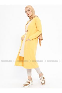 Yellow - Viscose - Cardigan - XTREND(110329364)