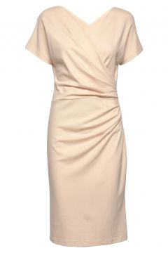 Ava Ecovero Dress Kleid Knielang Beige RESIDUS(114164571)