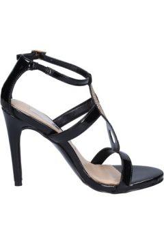 Chaussures escarpins Ikaros sandales noir cuir verni strass BT762(115442902)