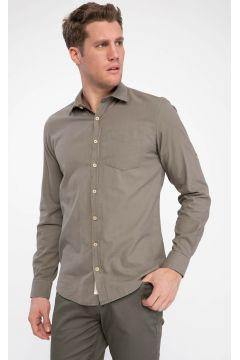 DeFacto Erkek Tek Cepli Uzun Kollu Slim Fit Gömlek(108987019)