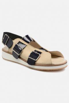 SALE -30 Deux Souliers - Buckle Strap Sandal #1 - SALE Sandalen für Damen / beige(111575115)