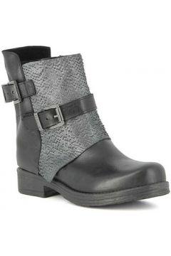Bottes Pierfrancesco Vincenti Boots en cuir à écailles ciselées(115411495)
