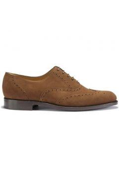 Chaussures Hugs Co. Richelieus en daim brunes semelle en cuir gratté(115401869)