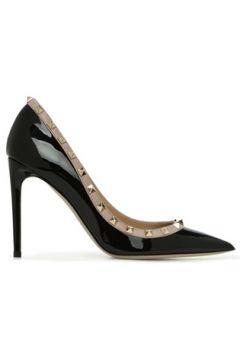Valentino Garavani Kadın Rockstud Siyah Deri Stiletto 36 EU(121159675)