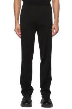 Balenciaga Erkek Siyah Beli Kordonlu Kontrast Şeritli Eşofman Altı 44 IT(121411954)