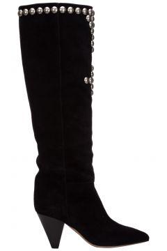 Women's suede heel boots lalle(126268115)