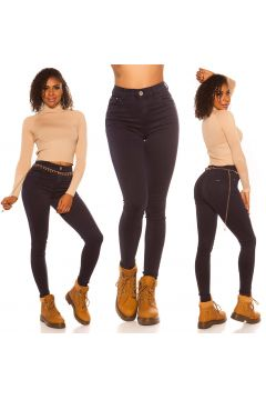 Basic Skinny High Waist Jeans(108387899)