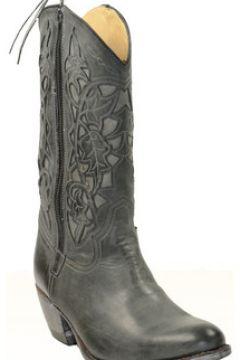 Bottes Sancho Boots Santiag en cuir vachette ref_san27592-gris 35(128012501)