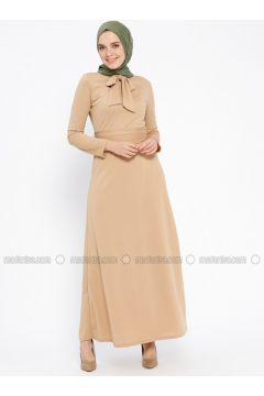 Beige - Polo neck - Unlined - Dresses - PINK APPLE(110313846)