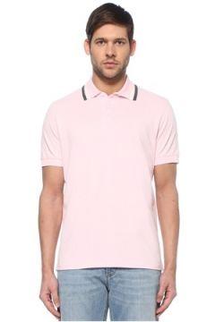 Brunello Cucinelli Erkek Pembe Polo Yaka T-shirt 54 IT(128051814)