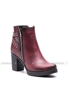 Maroon - Boot - Boots - Esem(110336598)