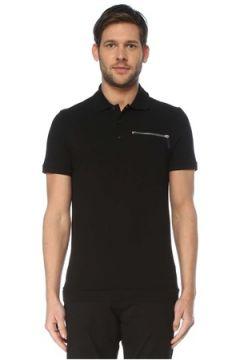 Valentino Erkek Siyah Polo Yaka Cep Detaylı T-shirt S EU(127364739)