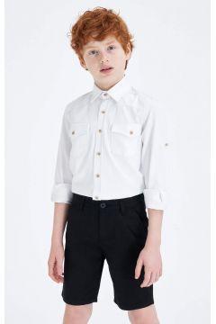 DeFacto Erkek Çocuk Regular Kolları Katlanabilir Jean Gömlek(119060904)