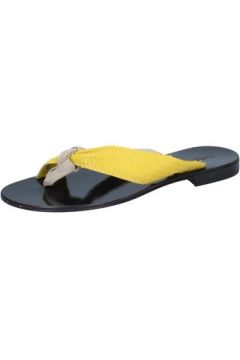 Sandales Calpierre sandales beige daim jaune cuir BZ869(115399048)