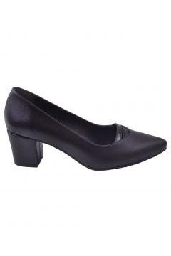Caprito Siyah Kadın Topuklu Ayakkabı(113615843)