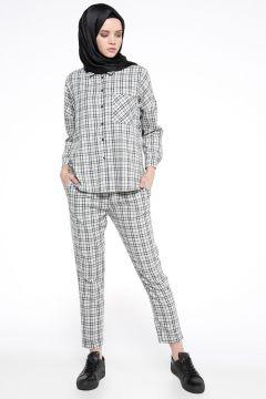 Pantalon İroni Vert / Gris(108581515)