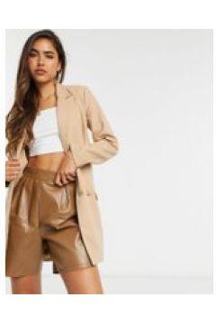 4th Reckless - vestito blazer color cammello con fibbia e cintura-Cuoio(122471966)