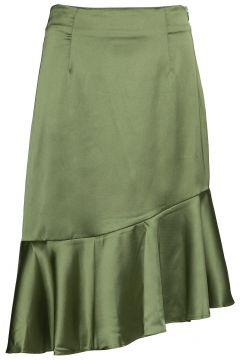 Ellie Skirt Knielanges Kleid Grün BY MALINA(114165382)