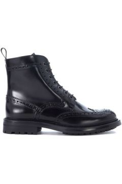 Boots Church\'s Demi-botte Angelina en peau noire(115489710)
