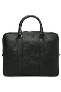 Beymen Collection Erkek Essential Siyah Logolu Deri Laptop Çantası EU(114438695)