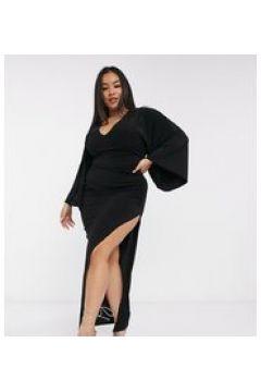 Club L London Plus - Vestito lungo con scollo profondo nero(122783870)