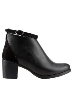 Ayakland 8422-837 Kadın Siyah 5,5 cm Topuk Cilt Bot Ayakkabı(121599366)