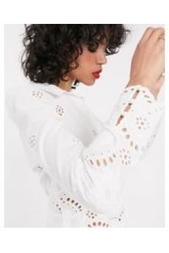 & Other Stories - Blusa accollata in pizzo bianca-Bianco(120368132)