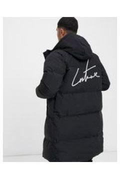 The Couture Club - Piumino lungo con pannello a contrasto-Nero(122680785)