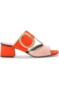 Sandales Paola D\'arcano Sandale modèle Tory en daim corail et rose(101538324)