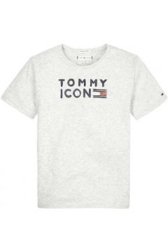 T-shirt enfant Tommy Hilfiger Kids TOMMY FLAG ICON S/S TEE GLITTER(115498184)