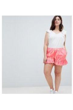 Junarose - Shorts mit Print und Rüschensaum - Mehrfarbig(94962790)