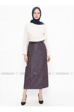 Purple - Multi - Fully Lined - Cotton - Skirt - Tekbir(110335689)