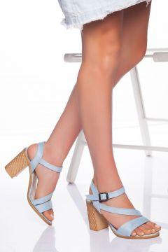 derithy -klasik Topuklu Ayakkabı-mavi Süet(120829886)