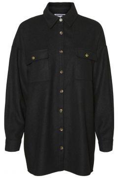 NOISY MAY Loose Fit Overhemd Dames Zwart(119977039)
