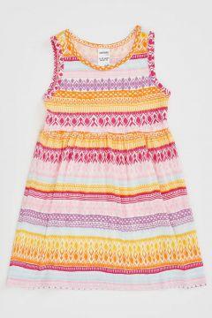 DeFacto Kız Bebek Desenli Kolsuz Elbise(119060786)