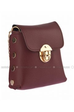 Maroon - Shoulder Bags - Housebags(110339784)