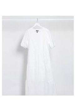 New Look Tall - Vestito al polpaccio a balze in pizzo bianco(120330029)
