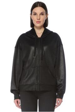 Allsaints Kadın Siyah Kapüşonlu Fermuarlı Sweatshirt S EU(126795816)
