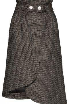 Slub Suiting Knielanges Kleid Grau GANNI(98321417)