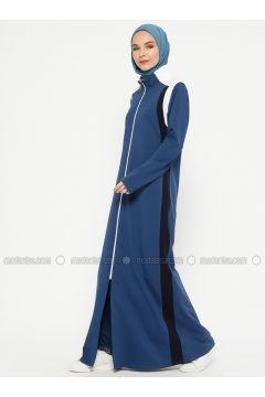 Indigo - Unlined - Polo neck - Topcoat - Sportify(110316766)
