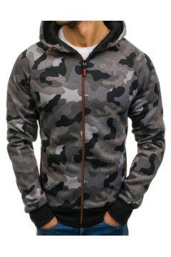 Veste Monsieurmode Veste à capuche camouflage Veste zippée M460 gris(115404231)