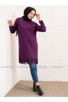 Purple - Crew neck -- Jumper - Lysa Studio(110340423)