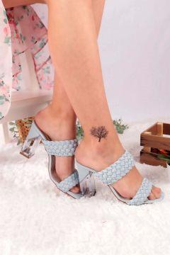Buffalo Kadın Mavi Topuklu Ayakkabı(121161172)