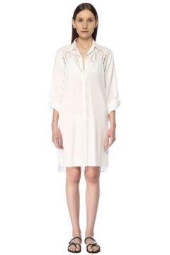 Vix Kadın Beyaz Delik Desen Detaylı Tunik XS EU(113464896)