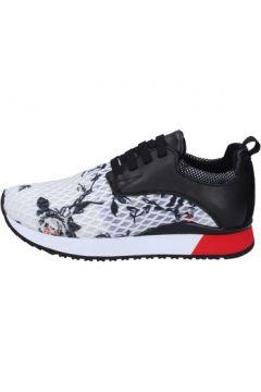 Chaussures London sneakers noir textile blanc cuir BT252(115442764)