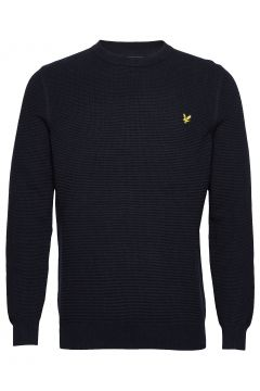 Grid Stitch Jumper Strickpullover Rundhals Blau LYLE & SCOTT(108839482)