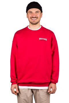 Thrasher Godzilla Embroidered Crewneck Sweater rood(109159730)